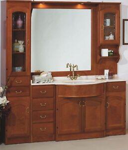 Mobile Da Bagno Classico.Dettagli Su Mobile Da Bagno Classico In Legno Massello Arredobagno Manifattura Italiana