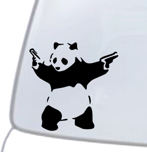 PANDA WITH GUNS BANKSY DECAL Vinyl Car Window Sticker ANY SIZE