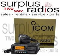 Icom A120 Vhf Air Band Transceiver Mobile Radio 200ch A110 Replacement