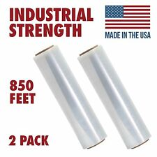 Ox Plastics 80 Gauge Pallet Shrink Wrap 18 X 850 Stretch Film Roll 2 Packs