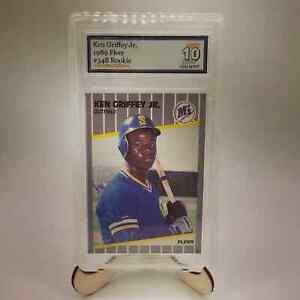 1989-Fleer-548-Ken-Griffey-Jr-Mariners-RC-Rookie-Gem-Mint-10