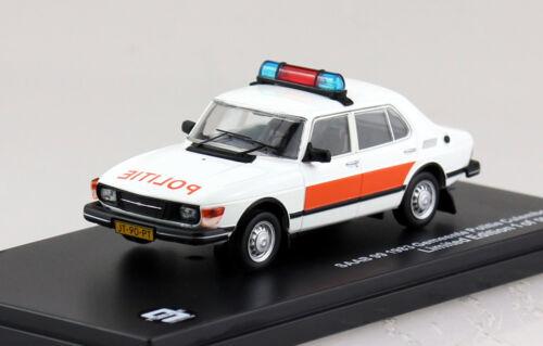 Saab 99 policía Países Bajos 1983 1:43 triple 9 maqueta de coche 43071