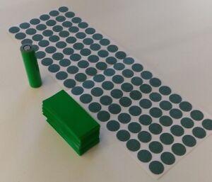 108-pcs-Pre-Cut-18650-Insulator-and-GREEN-PVC-Heat-Shrink-Wrap-Vape-ebike