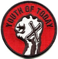 Youth Of Today Straight Edge Embroidered Iron-on Patch X Hand Sxe Hardcore Punk