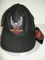 Harley Davidson Youth Baseball Cap W/eagle Over Bar & Shield Logo, Size 8-18,new