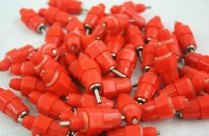 100pcs Water Nipple Drinker Poultry Chicken Duck Screw In 360 Angle Heavy Duty