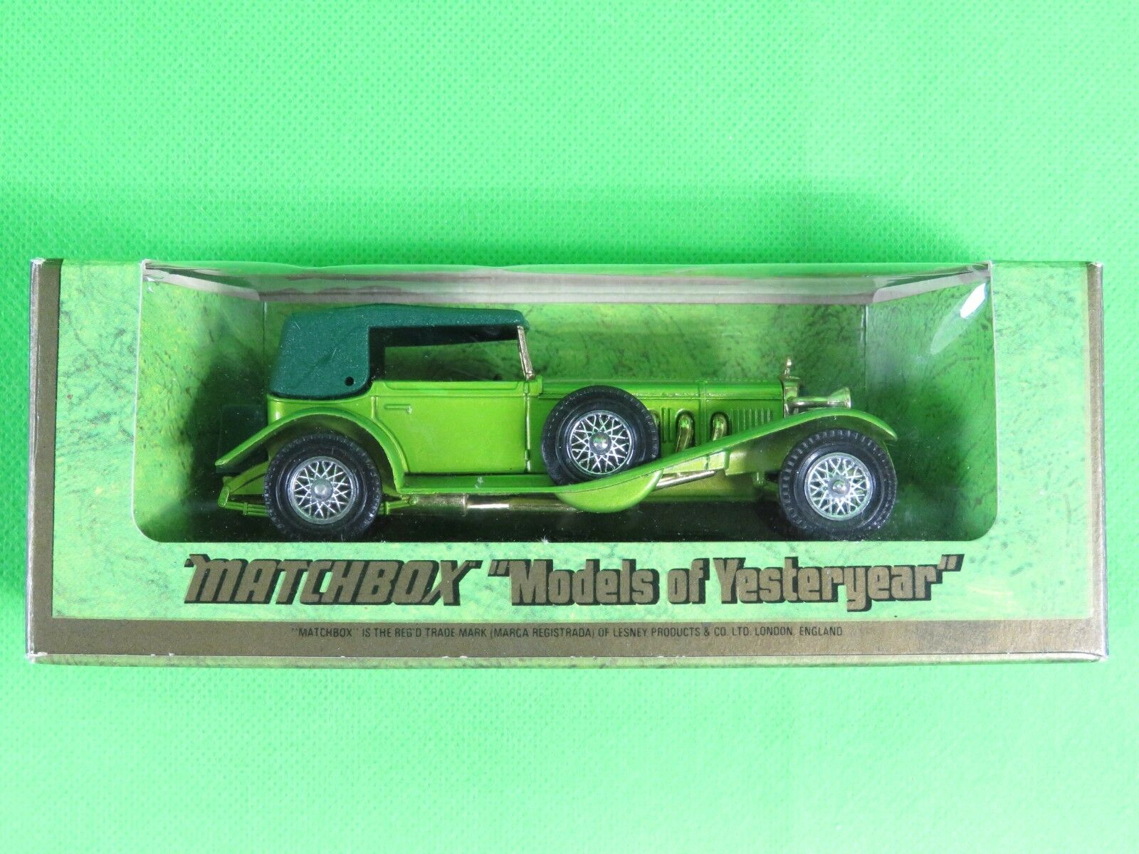 toit vert  Lesney Matchbox models of yesteryear in box Y-16 MERCEDES SS COUPE