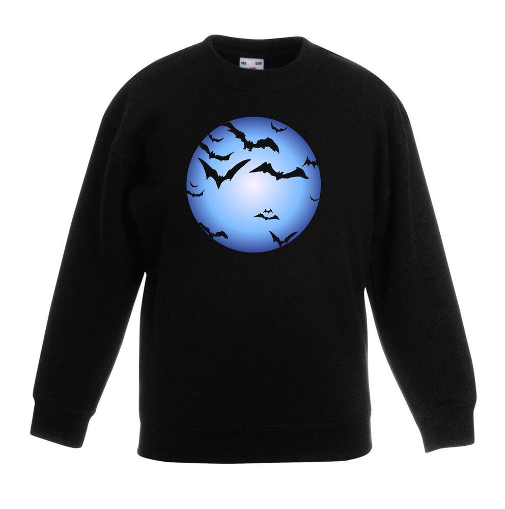 Doux Halloween Les Chauves-souris Et Pleine Lune Pour Enfants/enfants Unisexe Sweat Utilisation Durable