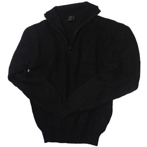 Señores islandeses Troyer Sweater suéter warmer jersey de punto negro