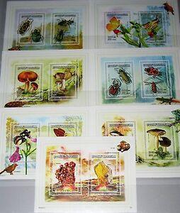 Briefmarken Gelernt Madagascar Malagasy 1998 Klb 1987-00 Block 280-81 Fauna Flora Pilze Insekten Mnh Sonstige