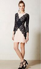 Patchwork Lace Pencil Dress Peter Som Size 6P P6 NWT