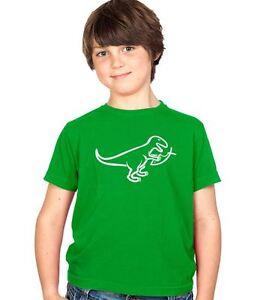 STUFF4 Jungen//Rundhals T-Shirt//Dinosaurier//Velociraptor//CS