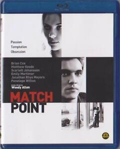 Blu Ray • Match Point WOODY ALLEN SCARLETT JOHANSSON RARISSIMO ITALIANO