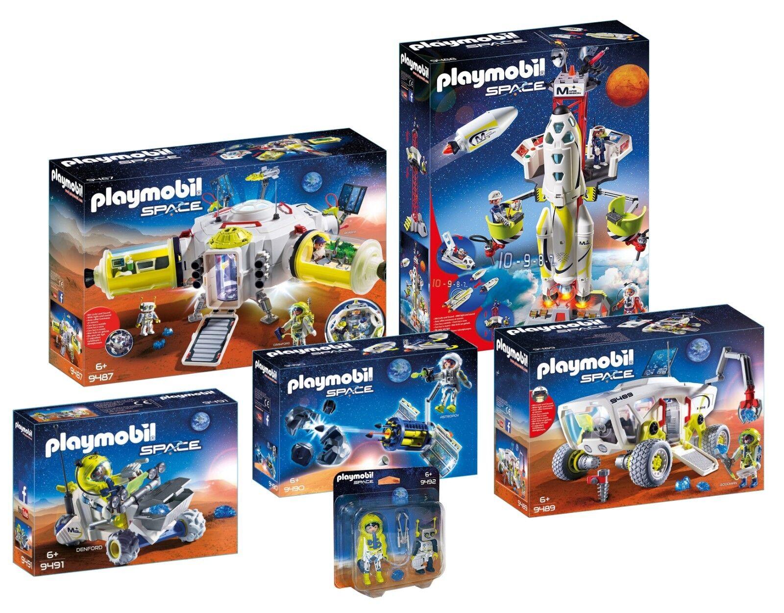 PLAYMOBIL ® Mars 9487 9488 9489 9490  9491 9492 NOUVEAU + neuf dans sa boîte  80% de réduction