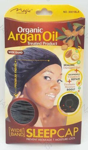 Magic Collection large bande sommeil Chapeau Organic Argan Huile traitée Cap #3001 Bla