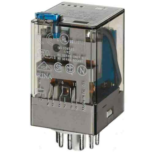 Finder Ind-Rel.11pol.24VDC 3W 10A f.Fas.90 60.13.9.024.0040 Steckanschlüssen NEU