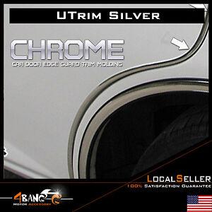 20ft flexible silver chrome auto trunk car door edge guard moulding trim u shape ebay. Black Bedroom Furniture Sets. Home Design Ideas