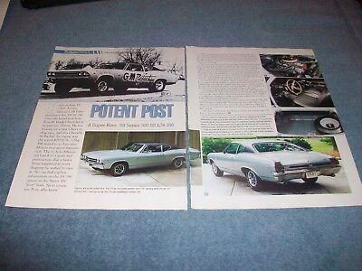 """1969 Chevelle 300 Deluxe Ss396 L78 Artikel """" Potent Post """" Ex-drag Auto Super Eine GroßE Auswahl An Modellen"""