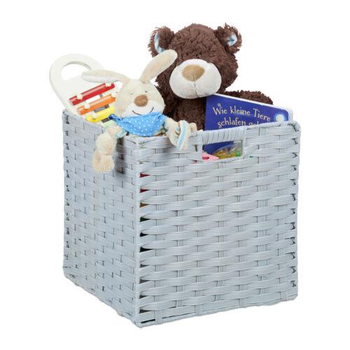 Aufbewahrungskorb Faltbox Flechtkorb PP-Korb Aufbewahrungsbox Faltkorb Quadrat