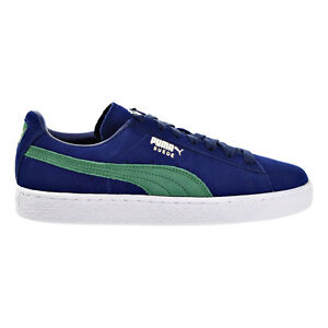 90fe72cc96a1 Puma Suede Classic + Men s Shoes Blue Depths Verdant Green 363242-22 ...