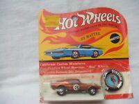 Hot Wheels Redline HK orange FORD MUSTANG BOSS HOSS blister BP scarce MINT CAR!