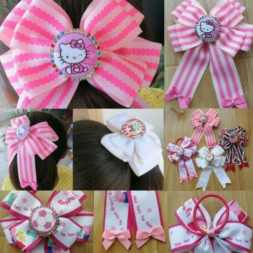 """50 BLESSING Good Girl Boutique 5x6.5/"""" Bowknot Ponytail Hair Bow Elastic 128 No."""