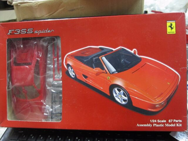 Fujimi Scale 124 Ferrari F355 Spider Plastic Model Kit Mini Toy Car