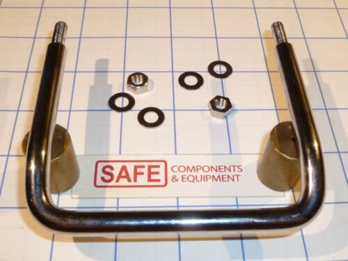 Round Bar Pull SS U-Handle Tilted Grip QTY-1 TAKIGEN A-1075-3-TMP 100mm OC F16