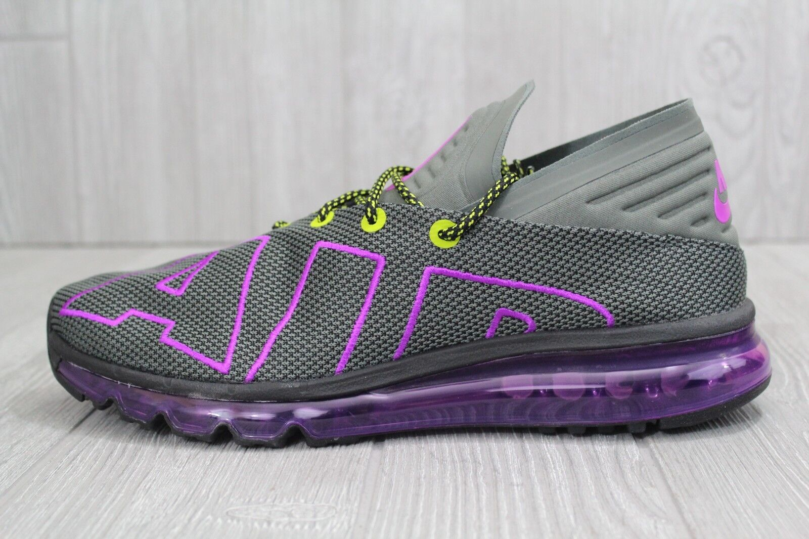 30 NEW Men's Nike Air Max Flair Up Tempo Gray Purple Shoes AH9711-001 8.5 10 11