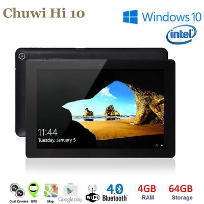 "CHUWI Hi10 10.1"" Windows10 Android QuadCore 4+64GB WIFI Phablet HDMI Tablet PC"