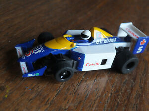 RARE-TYCO-Williams-Labatts-Indy-F-1-car-Elf-440X2-chassis-cleaned-ho-afx-Tomy