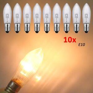 Led Ersatzlampen Für Lichterkette.Details Zu 10x 3300k E10 Led Ersatzlampen Gluhbirnen Topkerze Fur Lichterkette 10v 55v Lot