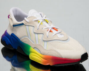 Details about adidas Originals Ozweego Pride Mens Off White LGTB Casual  Lifestyle Shoes EG1076