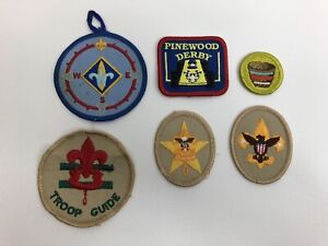 Lot-of-6-Vintage-Boy-Scouts-Embroidered-Patches-NOS-BSA-Scouts