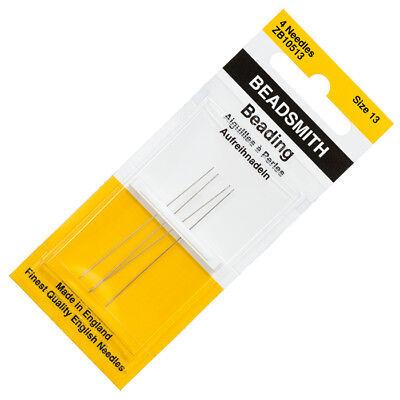 PK25 John James Size 13 English Beading Needles 49mm