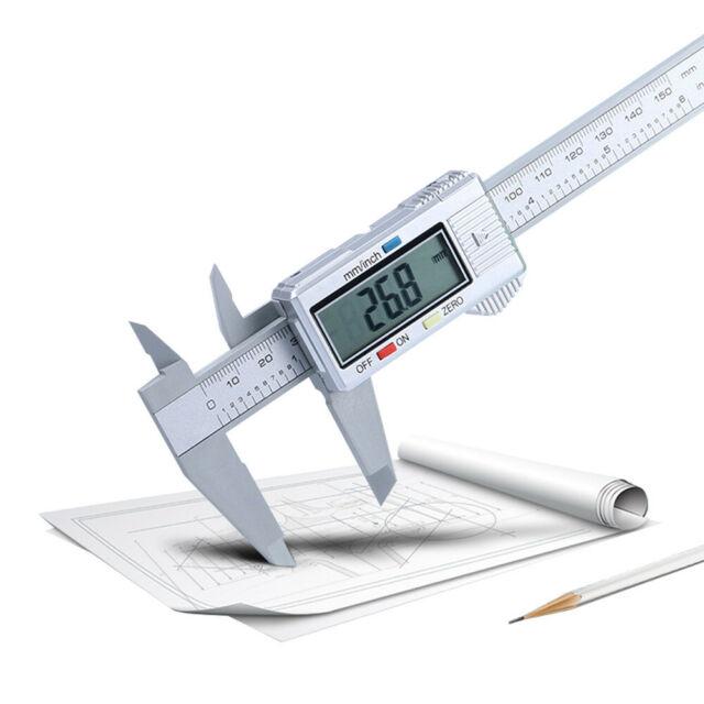 150MM 6inch Carbon Fiber LCD Digital Electronic Vernier Caliper Gauge Micrometer