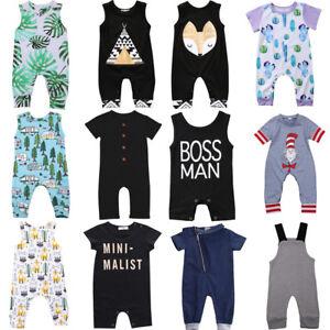 d391265771ff Newborn Infant Kids Baby Boy Girl Romper Bodysuit Jumpsuit Clothes ...