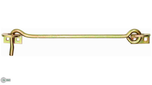 Crochet à Contrevent avec Oeillet 8 X 400 mm Panneaux Ferrure de Porte Fenêtre