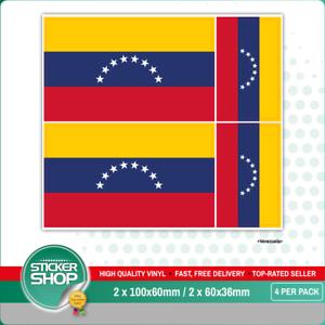 Sticker decal vinyl decals national flag car ensign bumper venezuela