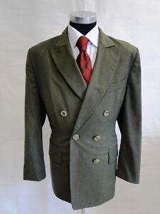Dunkelgrün Gr Unifarben Zweireiher Blazer 44 Windsor Schurwolle Original qWwBHtA7R