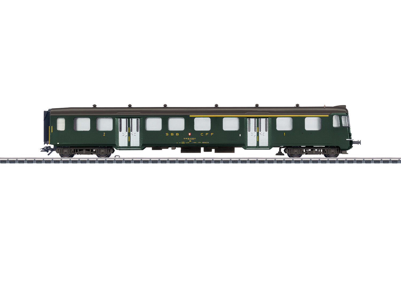 Märklin 43411 Leichtstahl-Steuerwagen 1. 2. Klasse der SBB tannengreen  NEU OVP