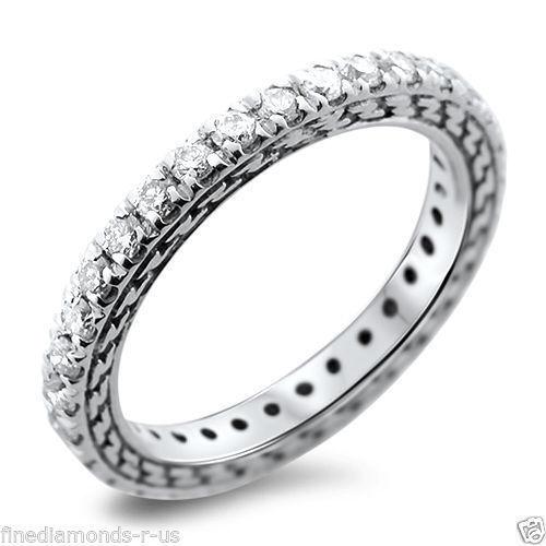 0.50carat Round Brilliant Cut Diamonds Full Eternity Wedding Ring in 18K gold