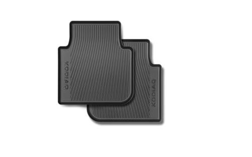 Original Skoda KODIAQ Gummimatten Fußmatten Gummi schwarz hinten 565061512A