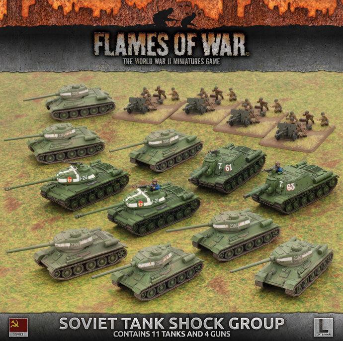 Flames of War Tanque de choque Nuevo Y En Caja soviético grupo SUAB 08