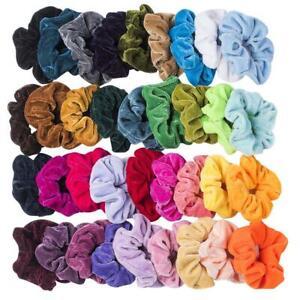 50PCS-Girls-women-Velvet-Girls-Hair-Scrunchies-Elastic-bands-Scrunchy-Ties-AU