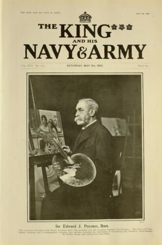 1903 PRINT SIR EDWARD J POYNTER PRESIDENT OF ROYAL ACADEMY