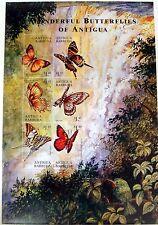 2000 ANTIGUA & BARBUDA BUTTERFLY STAMPS SHEET 0F 6 HUMMINGBIRD BUTTERFLIES