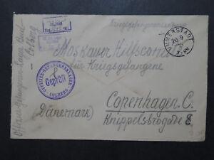 Germany-1916-Colberg-POW-Cover-to-Denmark-Z9900