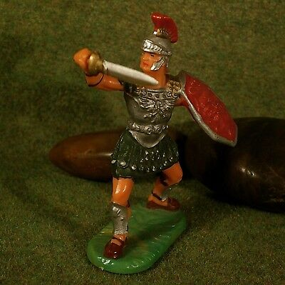 Original Hausser Elastolin 7cm RÖMER mit Schwert naturgetreu&handbemalt N°8425#