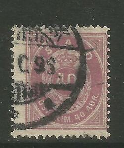 Iceland 1882-98 40a red violet (18) used